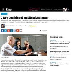 7 Key Qualities of an Effective Mentor