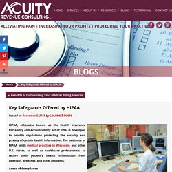 Key Safeguards Offered by HIPAA