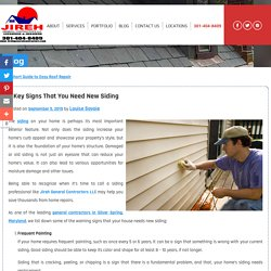 3 Key Signs That You Need New Siding
