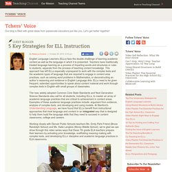 5 Key Strategies For ELL Instruction
