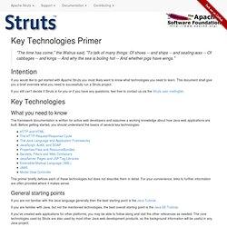 Struts - Key Technologies Primer