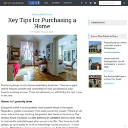 Key Tips for Purchasing a Home