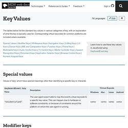 Key Values - Web API Referenz