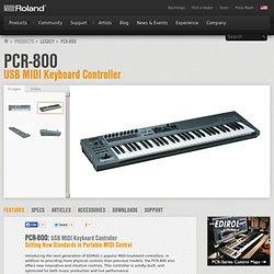 Roland U.S. - PCR-800: USB MIDI Keyboard Controller