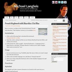 Clavier français diacrité 1.1a Mac - Michael Langlois