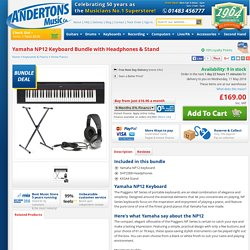 Yamaha NP11 Keyboard Bundle with Headphones & Stand