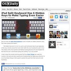 iPad Split Keyboard Has 6 Hidden Keys to Make Typing Even Easier