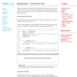 Paper.js — Keyboard Interaction