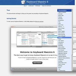 Keyboard Maestro 6 Documentation: Tour