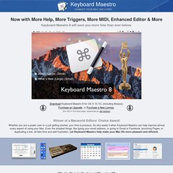 Keyboard Maestro 6.4.6: Work Faster with Macros for Mac OS X