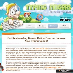 Keyboard Practice Games for Kids - Typing Fingers