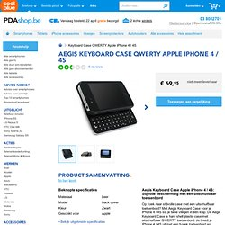 Aegis Keyboard Case QWERTY Apple iPhone 4 / 4S - PDAshop.be