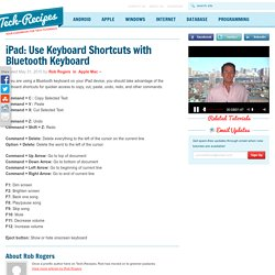 iPad: Use Keyboard Shortcuts with Bluetooth Keyboard