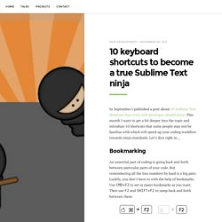 10 keyboard shortcuts to become a true Sublime Text ninja