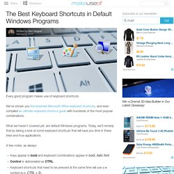 The Best Keyboard Shortcuts in Default Windows Programs