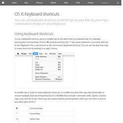 OS X: Keyboard shortcuts - Apple Support