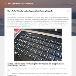 Ways To Fix When Hp Laptop Keyboard Isn't Working Properly