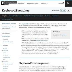 KeyboardEvent.key - Web APIs