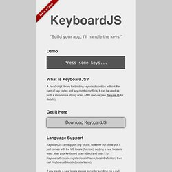 KeyboardJS Demo