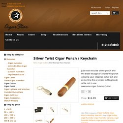 Buy Best Quality Silver Cigar Cutter Online at Cigar Star