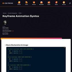 Keyframe Animation Syntax