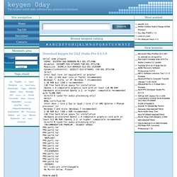 Keygen for DAZ Studio Pro 4.0.3.9