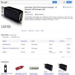 KeyGrabber USB 8MB Hardware Keylogger - 8 Megabyte USB Keylogger