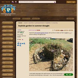keyhole garden in summer drought (projects forum at permies)