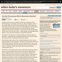 FT.com | Willem Buiter's Maverecon | Can the US economy afford a