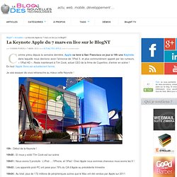 La Keynote Apple du 7 mars en live sur le BlogNT