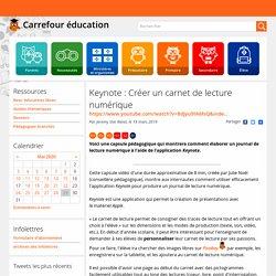 Keynote : Créer un carnet de lecture numérique