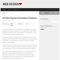20+ Best Keynote Presentation Templates