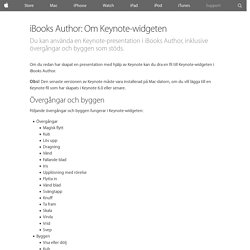 iBooks Author: Om Keynote-widgeten - Apple-support