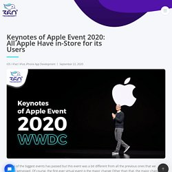 Keynotes of Apple Event 2020: All Apple Have in-Store for its Users