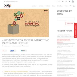 Keynotes for Digital Marketing in 2015 & beyond