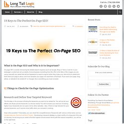 Long Tail Logic – Social Media Management and Search Optimization 19 keys to the perfect on-page SEO! - Long Tail Logic