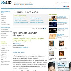 Keys to Weight Loss After Menopause