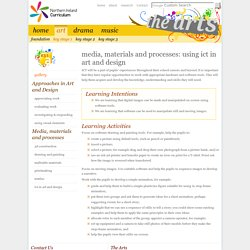 The Arts » Keystage 1 Art and Design » Media, materials and processes: using ICT in Art and Design