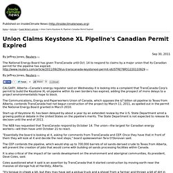 Union Claims Keystone XL Pipeline's Canadian Permit Expired