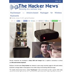 KeySweeper — Arduino-based Keylogger for Wireless Keyboards - Hacker News