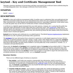 keytool-Key and Certificate Management Tool