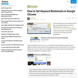 How to Set Keyword Bookmarks in Google Chrome