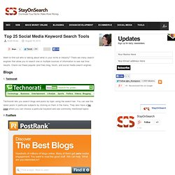 Top 25 Social Media Keyword Search Tools and Engines