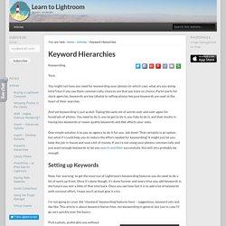 Keyword Hierarchies