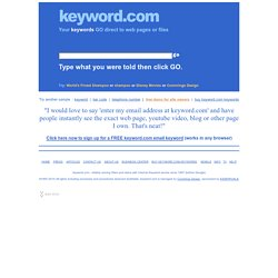 Keyword.com Internet Keyword, Phone Keyword, and Bar Code Keyword Marketing Promotion Solutions.