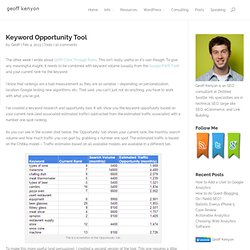 Free Keyword Research Tool - Keyword Opportunity
