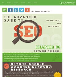 Keyword Research - The Advanced Guide to SEO
