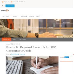 How to Do Keyword Research for SEO: A Beginner's Guide