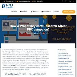 How A Proper Keyword Research Affect PPC campaign?