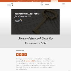 Keyword Research Tools for E-commerce SEO